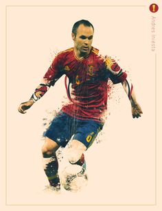 #Andres_Iniesta #El_Ilusionista #FIFA , World Cup 2014 - Creative Portraits by Jonathan Rudolph, via Behance