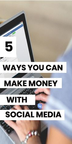 Make money with social media! Learn 5 strategies for making money online with your social media accounts. Learn how Instagram Youtube Facebook and Twitter can earn you money online. #makemoneyonline #bloggingtips