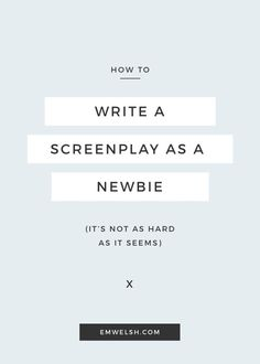 How to Write a Screenplay #amwriting #screenwriting #writing
