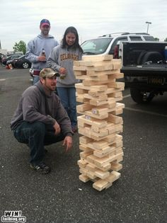 Tail gating Jenga. So easy to make and SO much fun!