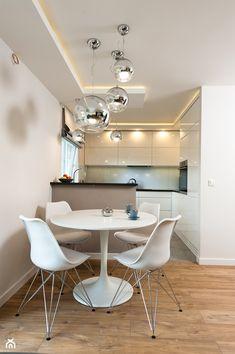 Realizacja mieszkanie Kraów - Mała otwarta jadalnia w salonie, styl nowoczesny - zdjęcie od All Design Agnieszka Lorenc