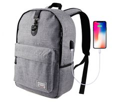 b0c6e49abe97 Laptop Backpack-Beyle Slim Anti-Theft Travel Laptop Backpacks for Men Women  with USB Charging Port School Computer Book Bag for College Travel Backpack  Fits ...