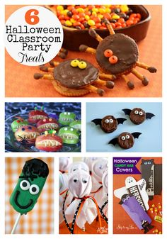 Make these creative and easy Halloween Classroom party treats! www.skiptomylou.org #halloweentreats #halloween #halloweenparties