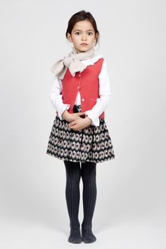 Coquelicot, one of the exciting European collections at the new TFNYusa showroom, includes this perfect-for-an-ingénue mix of timely shapes, arresting pattern, and feminine frills. Tween Fashion, Toddler Fashion, Fashion 2017, French Kids, Girl Outfits, Fashion Outfits, Little Fashionista, Cute Outfits For Kids, Stylish Kids