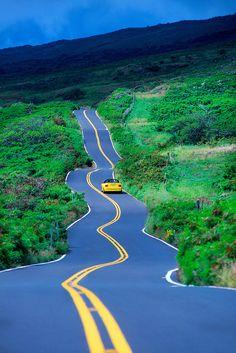 Driving the Kula Highway, Maui, Hawaii