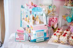 Ice-cream and Cupcakes Birthday Party Ideas | Photo 1 of 65