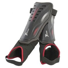 Precision Precision Stadium Shinguard Black Red Shinguards