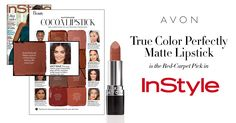 InStyle Magazine helps you match a Red Carpet Cocoa lipstick to your skin tone. mark. Brand Ambassador Lucy Hale rocks the Avon Perfectly Matte Lipstick in Marvelous Mocha to play off the cool pink undertones in her medium-fair skin. Check it out @ https://maromire.avonrepresentative.com #lipcolor #matte #newAvon #makeup