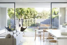 Outdoor chairs - Love the styling furniture and colours Bellevue Hill residence by Pipkorn & Kilpatrick