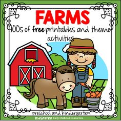 Farm theme activities, centers, printables and hands-on games to make for preschool, pre-K and Kindergarten. #farmprintables #preschool #kindergarten