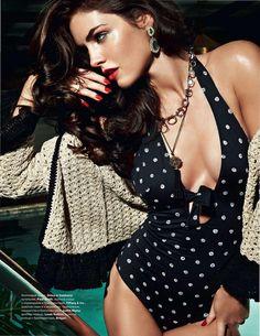 b47c2fe51d Black and white polka dot bathing suit. One piece. Beach wear