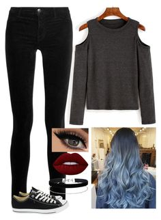 """""""Untitled #1344"""" by dancingblonde ❤ liked on Polyvore featuring J Brand, Lime Crime, Miss Selfridge, Converse and resly"""