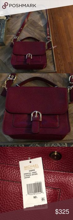 NWT michael Kors cherry lg school satchel Leather New Received as a gift, but not my style Michael Kors Bags Satchels