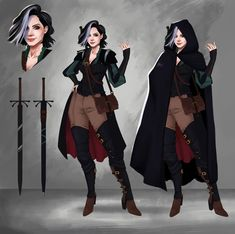 ArtStation - Jade, Wieke Pratiwi Prabowo Source by clothes art Female Character Concept, Character Design Cartoon, Fantasy Character Design, Character Creation, Character Design References, Character Design Inspiration, Character Art, Character Sheet, Dungeons And Dragons Characters