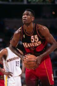 Dikembe Mutombo, NBA Basketball Player from 1991 - Atlanta Hawks from 1996 - 2001 Los Angeles Clippers, Atlanta Hawks, Basketball Legends, Basketball Players, Sports Teams, Dikembe Mutombo, Jason Williams, Allen Iverson, Kobe Bryant
