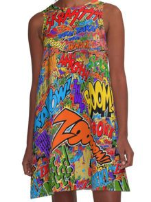Onomatopoeia Collage #2 (2 of 2) A-Line Dress
