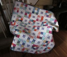 Simple but Effective-9 Patch Jelly Roll Quilt