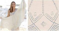 This gorgeous Almeria knitted lace shawl will keep you warm, comfy, and stylish! The elegant lace design will definitely amp up your getup. Get the FREE . Lace Knitting, Knitting Patterns Free, Free Pattern, Knitting Ideas, Knitted Shawls, Lace Shawls, Lace Design, Shawls And Wraps, Scarfs