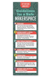 Makerspace Safety Poster - Events and Celebrations - Posters - Products for Young Adults - ALA Store
