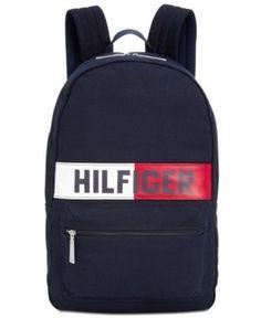 Tommy Hilfiger Men's Logo Flag Backpack - Blue