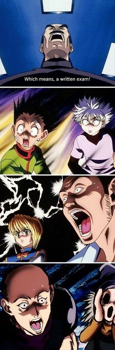 Haha, Bodoro, Gon, Killua, Kurapika, Leorio, Hanzo, and Pokkle | so funny!        ~Hunter X Hunter