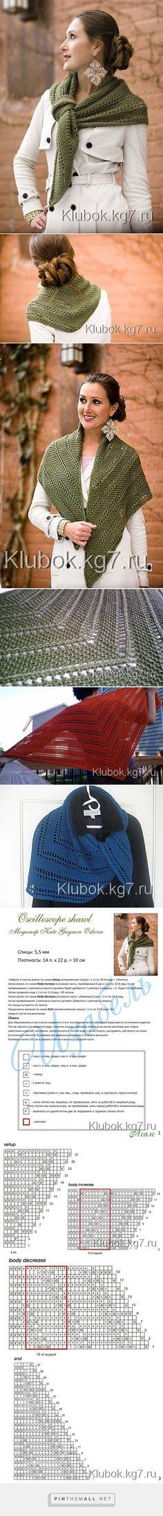Oshilloscope shawl - created via http://pinthemall.net