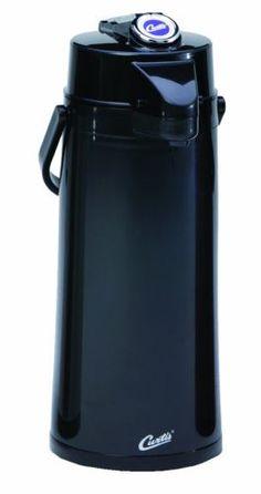 Thermal-Dispenser-Air-Pot-2-2L-Black-Body-Glass-Liner-Lever-Pump-Coffee-Beverage
