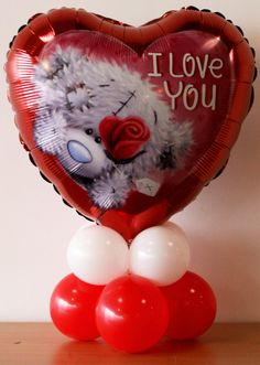Petit centre de table pour la St Valentin #qualatex #balloon #stvalentin #valentinesday
