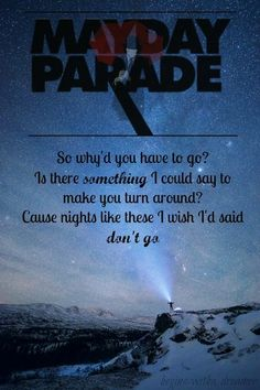 Champagne's For Celebrating (I'll Have A Martini) ~ Mayday Parade