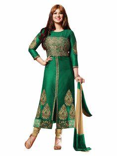 Ayesha Takia Green Cotton Pakistani Style Suit 70014