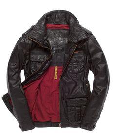 Superdry Brad Leather Jacket - Men's Jackets ($200-500) - Svpply