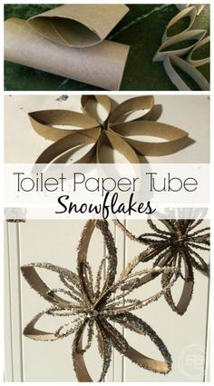 Instead of throwing out those toilet paper tubes, reuse them to create ornaments or decorations.  A great craft for the kids or students in a classroom!