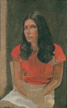 Τσαρούχης Γιάννης – Yannis Tsarouchis [1910-1989] |τζενη καρεζη Female Portrait, Portrait Art, Mediterranean Art, Greece Painting, Portraits, 10 Picture, Greek Art, Color Of Life, Conceptual Art