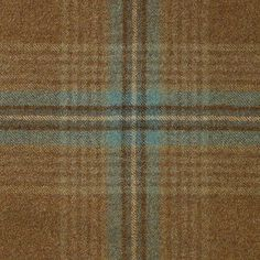 Ingleton Check Fabric A 100% wool check fabric in light mocha with aqua and white.
