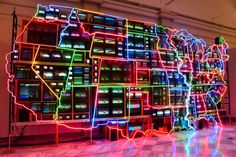 https://flic.kr/p/21m9S2p | Electronic Superhighway: Continental U.S. | by Nam June Paik, 1996