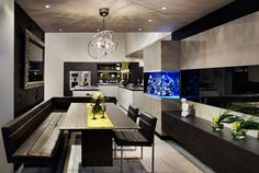 Sleek, contemporary & I love having an aquarium in the kitchen. --Poggenpohl | Kitchens International