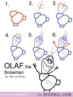 Drawing Olaf…