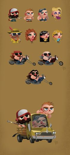 Character Design MIX - Vol. 2 by Franco Spagnolo, via Behance ★ Find more at http://www.pinterest.com/competing/