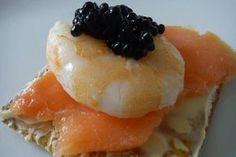 Receta de Canapé de salmón ahumado y gamba