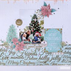 Merry Christmas Wishes : Illustration Description Festive Layout Christmas Wishes Merry Christmas Wishes, Christmas Blessings, Christmas In July, Christmas Paper, Christmas Themes, Scrapbook Journal, Scrapbook Page Layouts, Scrapbook Pages, Scrapbook Sketches
