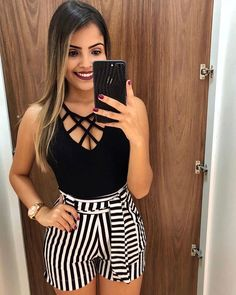 Swag Outfits For Girls, Cute Summer Outfits, Cute Casual Outfits, Short Outfits, Stylish Outfits, Short Dresses, Girl Outfits, Fashion Outfits, Cute Fashion