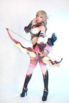 Model: DOREMI SpCats (도레미 - 이혜민) Lee Hye-Min |  SpiralCats Cosplay: [Changyou] E.O.S | Class: Archer |  Fantasy Costume Armour |  #Doremi #도레미 #이혜민 #SpCats #SpiralCats #Cosplay #Chanyou #Archer #Fantasy #Costume #Armour |  Pin by @settimamas