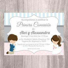 First Communion Digital Invitation Sibling Communion Printable