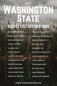 This includes places like beaches mountains lakes trails Seattle and everywhere in between. Save this pin for PNW travel inspiration later and click the link for more Washington travel and hiking tips! Viaje A Washington Dc, Hiking In Washington State, Washington Beaches, Spokane Washington, Death Valley, Kayak Camping, Camping Places, Travel Usa, Travel Tips
