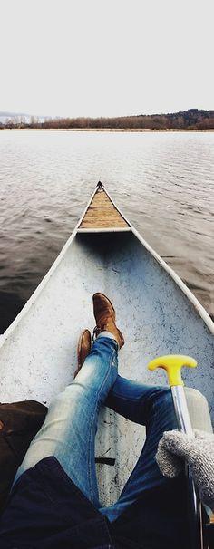 shawnlowe:    Canoeing ~ iPhone 5 panorama