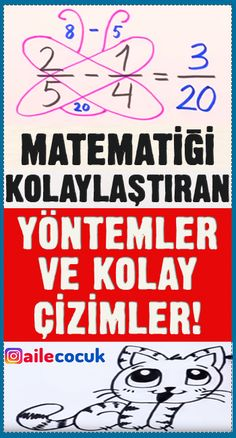 Matematiği kolaylaştıran yöntemler ve kolay çizimler! Math Games, Math Activities, Charles Darwin, Teaching Math, Maths, Math Classroom, Math Lessons, Mathematics, Personal Development
