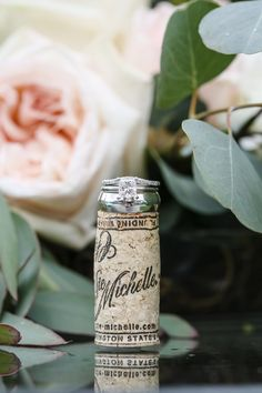 Beautiful wedding ring and roses