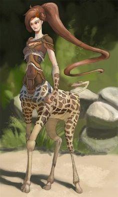 Girafe girl