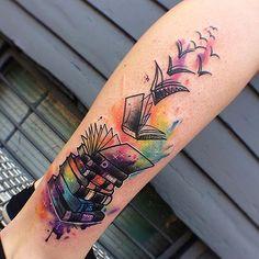 #watercolortattoo by @maxvktattoos /// ##Equilattera #Tattoo #Tattoos #Tat #Tatuaje #tattooed #Tattooartist #Tattooart #tattoolife #tattooflash #tattoodesign #tattooist #tattooer #tatted #tatt #Miami #Mia #Venezuela #awesome #love #ink  #art #books #color #book #watercolor #mandala #colortattoo #geometrictattoo . Posted by @WazLottus by equilattera