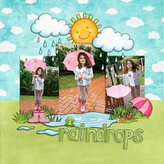 "Spring digital scrapbook page created with the ""Springity Spring"" digital scrapbooking kit by Kim Jensen and Kate Hadfield 